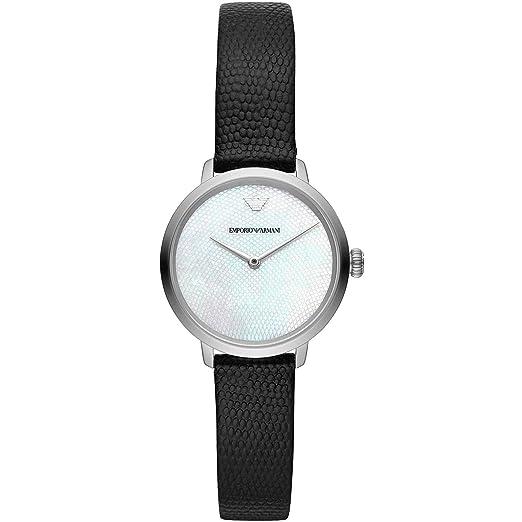 5a7d1af0dd73 Emporio Armani Reloj Analógico para Mujer de Cuarzo con Correa en Cuero  AR11159  Amazon.es  Relojes