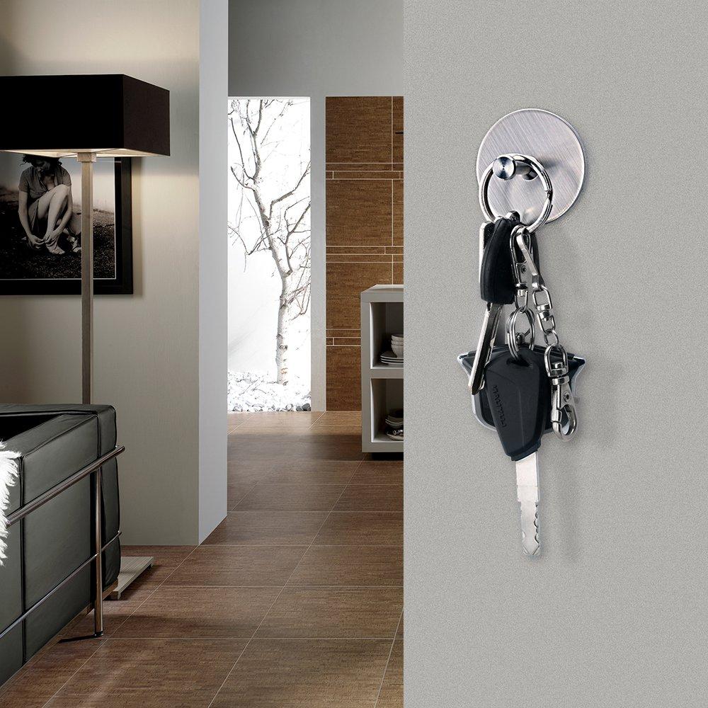 FOTYRIG Self Adhesive Hooks Heavy Duty Wall Stainless Steel Waterproof Robe/Towel Hooks for Bathroom Kitchen Garage-4 Packs by FOTYRIG (Image #6)