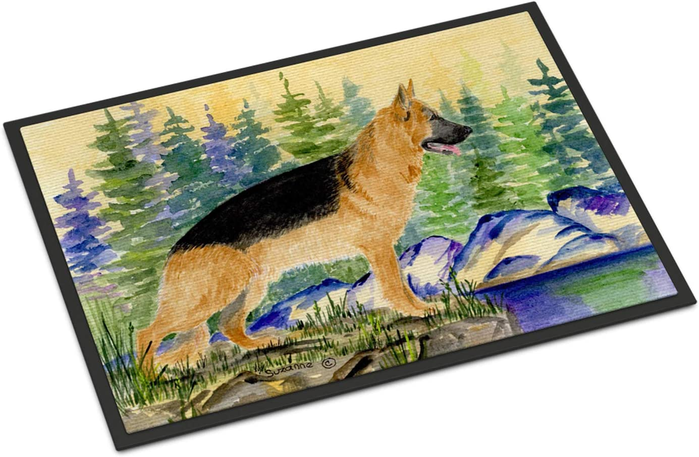 Carolines Treasures German Shepherd Wipe Your Paws Floor Mat 19 X 27 Multicolor Doormats Home Décor