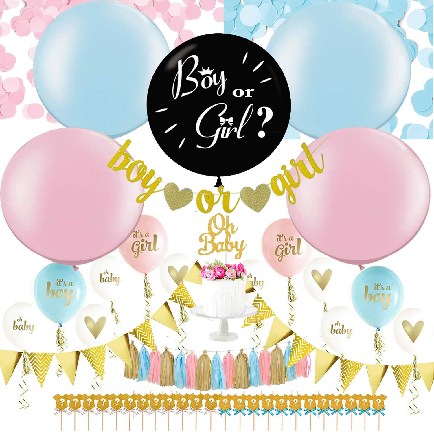Gender Reveal Party Supplies   36' Gender Reveal Balloon, Baby Shower Decorations Set, Baby Gender Reveal Party Supplies, Baby Reveal Party Supplies, Gender Reveal Ideas, Gender Reveal Decorations KIT