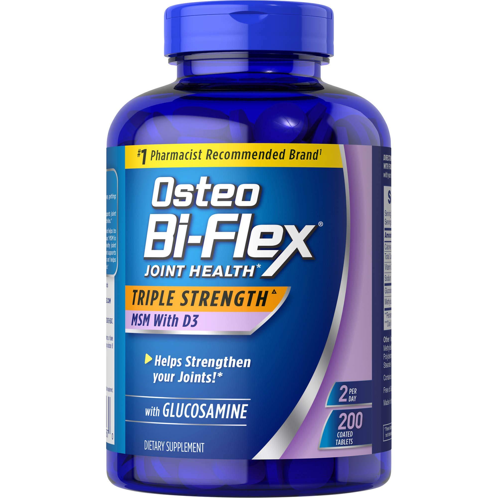 Osteo Bi-Flex 1,500mg (200 Count) Glucosamine HCl Tablets, 1 Pack, 200 Count by Osteo Bi-Flex