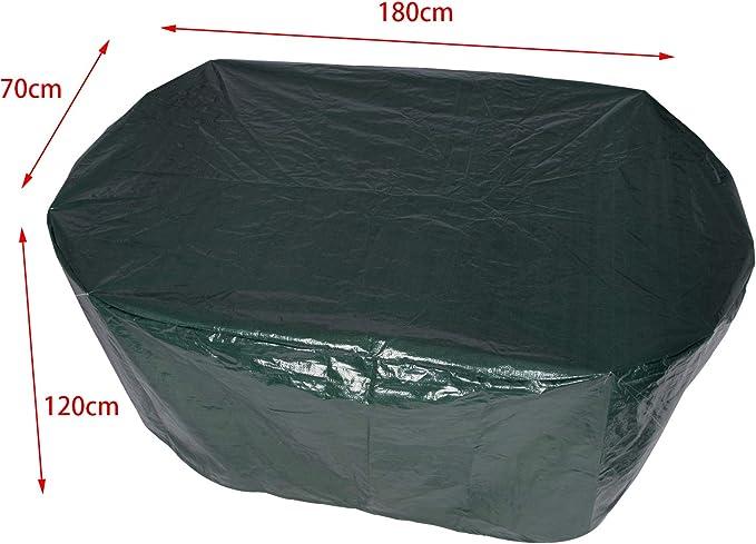 HOLISTAR Housse de Protection pour Meubles de Jardin B/âche Couverture en PE Imperm/éable pour Ensemble de chaises Vert 240x136x88cm