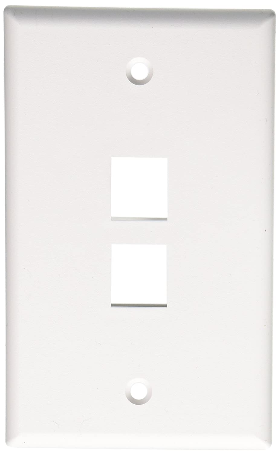 Leviton 41080 2wp Quickport Wallplate 2 Port White Electrical Ivory 1 To 5 Modular 4wire Phone Jack Converter Adapter C0261 Distribution Wall Plates