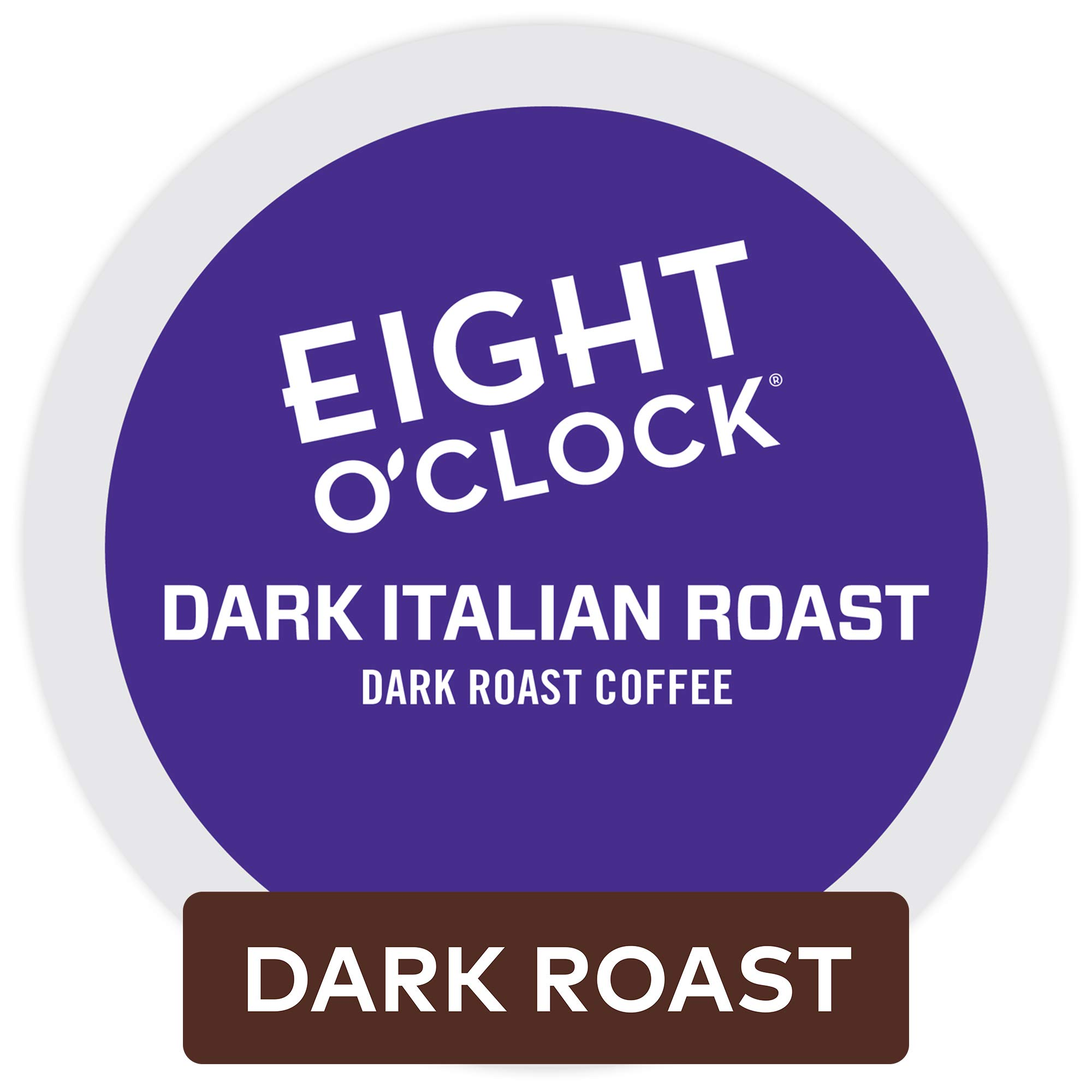 Eight O'Clock Coffee Dark Italian Roast, Single Serve Coffee K-Cup Pod, Dark Roast, 72