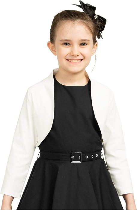 BlackButterfly Kids Tailored 3//4 Sleeve Childrens Girls Bolero
