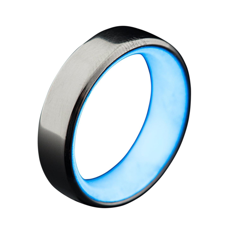 Men s Titanium Glow Ring Handcrafted Minimalist Titanium Band