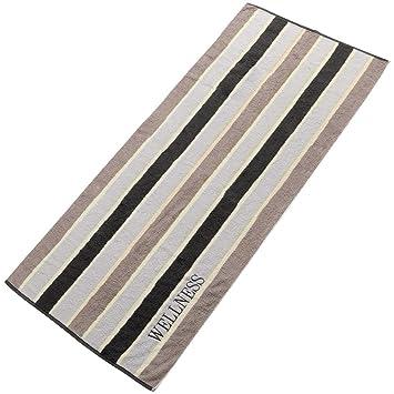 aqua-textil - Toalla para sauna o spa (banda de color negro, 80 x 200 cm): Amazon.es: Hogar