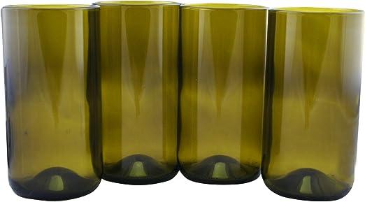Vasos para beber hechos de botellas de vino recicladas, 16 onzas ...