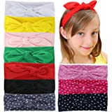 Amazon Price History for:QingHan Baby Girl Elastic Cotton stretch headbands For Teens Girls Solid Dots Stripe Printed Turban Hair Bands