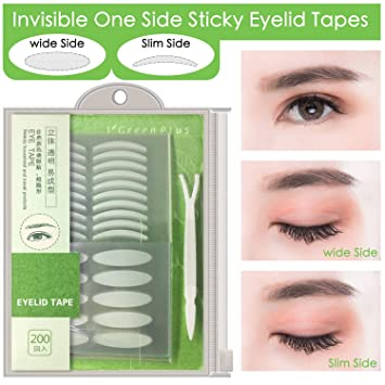 400Pcs Natural invisible Single Side Eyelid Tape Stickers Medical-use Fiber Eyelid Lift Strip,