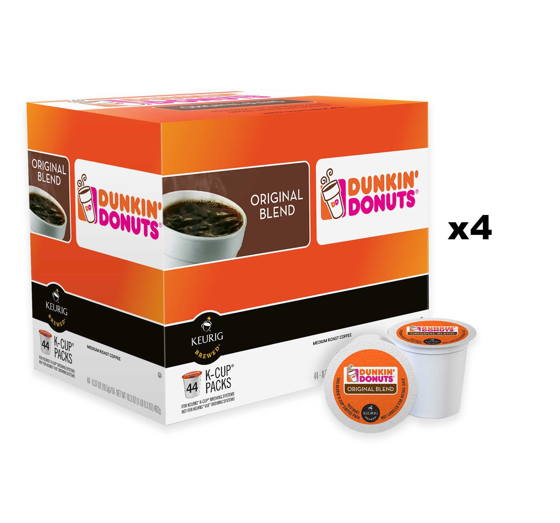 Dunkin' Donuts Keurig K-Cup Pods (Case of 176 K-Cups)