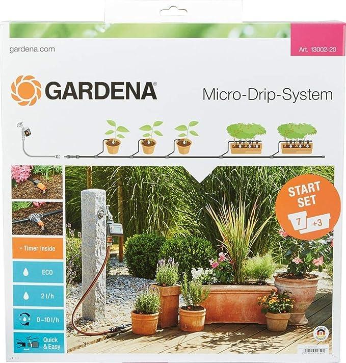 Gardena 13002-20 Set de Inicio M automático, el práctico Sistema ...