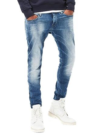 abffc4c0 G-STAR RAW Men's Revend Super Slim Jeans Blue: Amazon.co.uk: Clothing