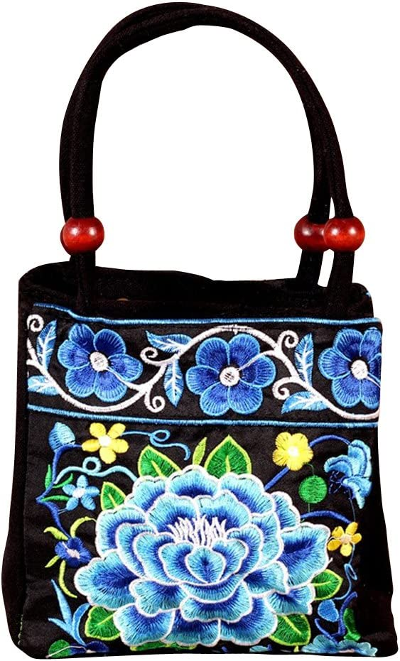 BESTOYARD Bolso Bordado /Étnico de Flor de Moda para Mujer