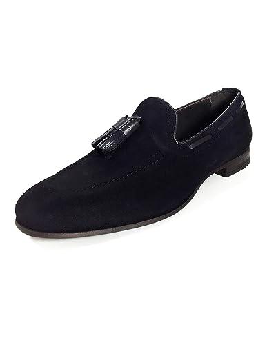 e3d0d569cf04c Zara Men's Navy Blue Leather Loafers 2606/002: Amazon.co.uk: Shoes ...