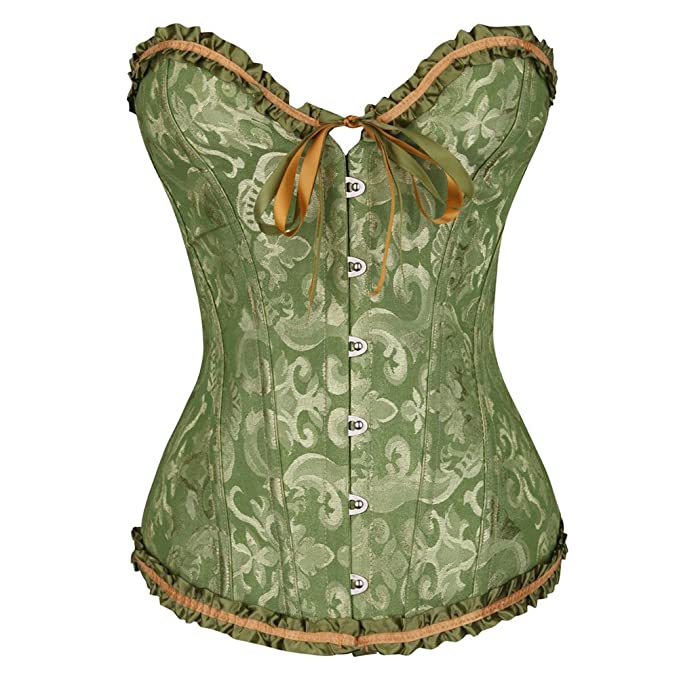 b6dbe39910e HLGO Corsets for Women for Corset Bodysuit Corset Top with Sleeves Lace  Corset Costumes for Women  Amazon.co.uk  Clothing