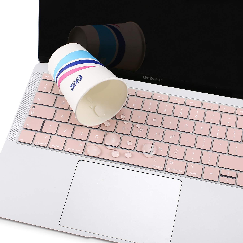 Imperm/éable//Antipoussi/ère Silicone Prot/ège Clavier EU Disposition MOSISO Protection Clavier Compatible MacBook Air 13 Pouces 2019 2018 A1932 avec Affichage Retina /&Touch ID Transparent