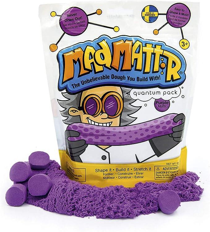 Relevant Play Mad Mattr Super-Soft Modelling Dough Compound that Never Dries Out, 10 Ounces, Purple