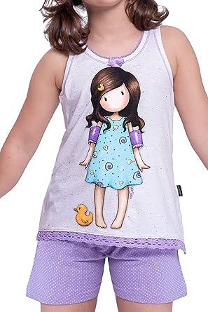 Santoro Pijama Tirantes Little Duck para Niña: Amazon.es ...
