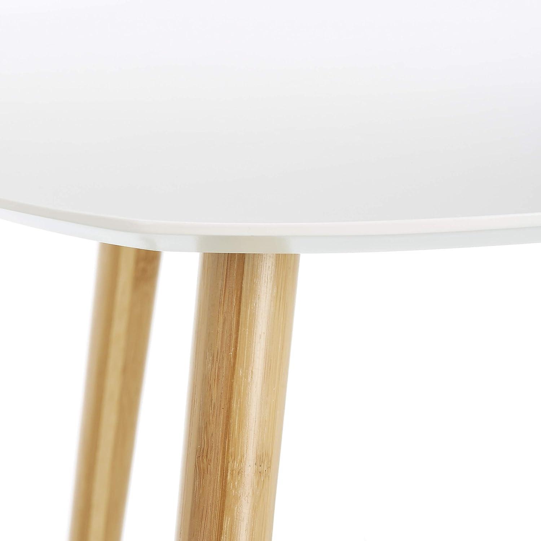 LOMOS mesas de café Finja en Blanco Compuesto de 2 mesas auxiliares de Madera