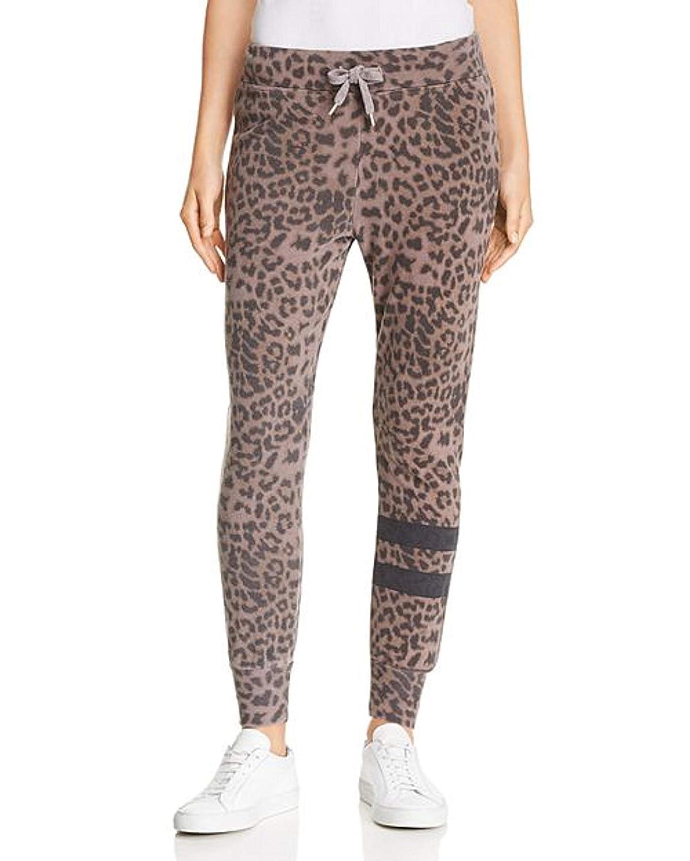 SUNDRY Leopard Print Jogger Pants Sweatpants