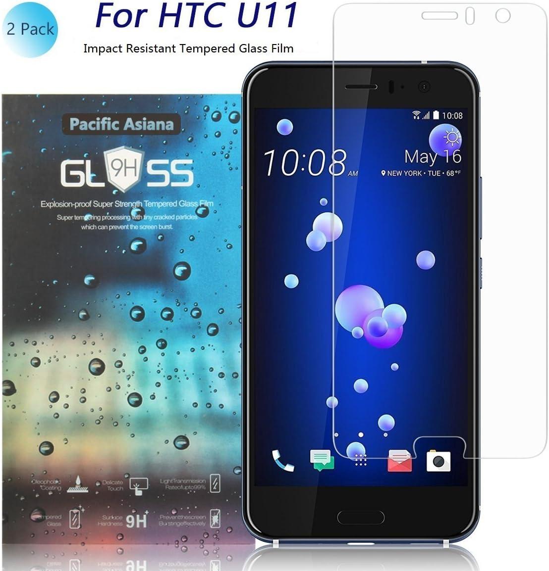 2 Unidades] HTC U11 Protector de Pantalla, Pacific Asiana [2.5D ...