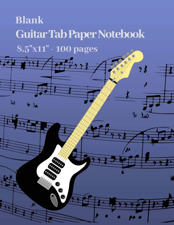 100-Pages Bass Tab Manuscript Paper Tablature Standard  Bass Guitar