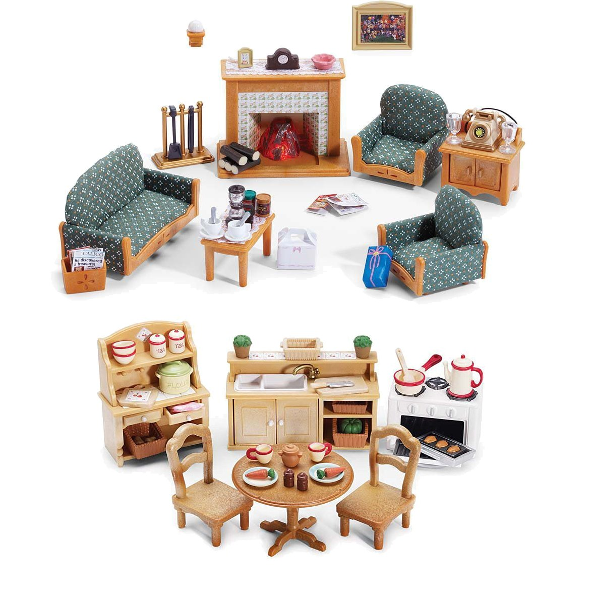 Calico Critters Of Cloverleaf Corners Furniture Bundle Deluxe - Calico critters bathroom