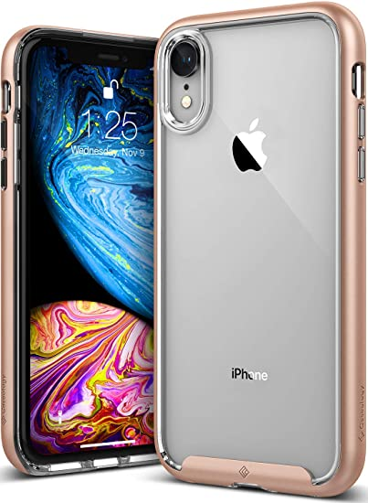 size 40 59d50 ecc10 Caseology Skyfall for iPhone XR Case (2018) - Clear Back & Slim Fit - Gold
