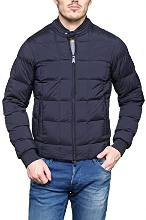 af34860f67 Mens Armani Puffer Jacket in Blu Notte (XXX-Large): Amazon.co.uk ...