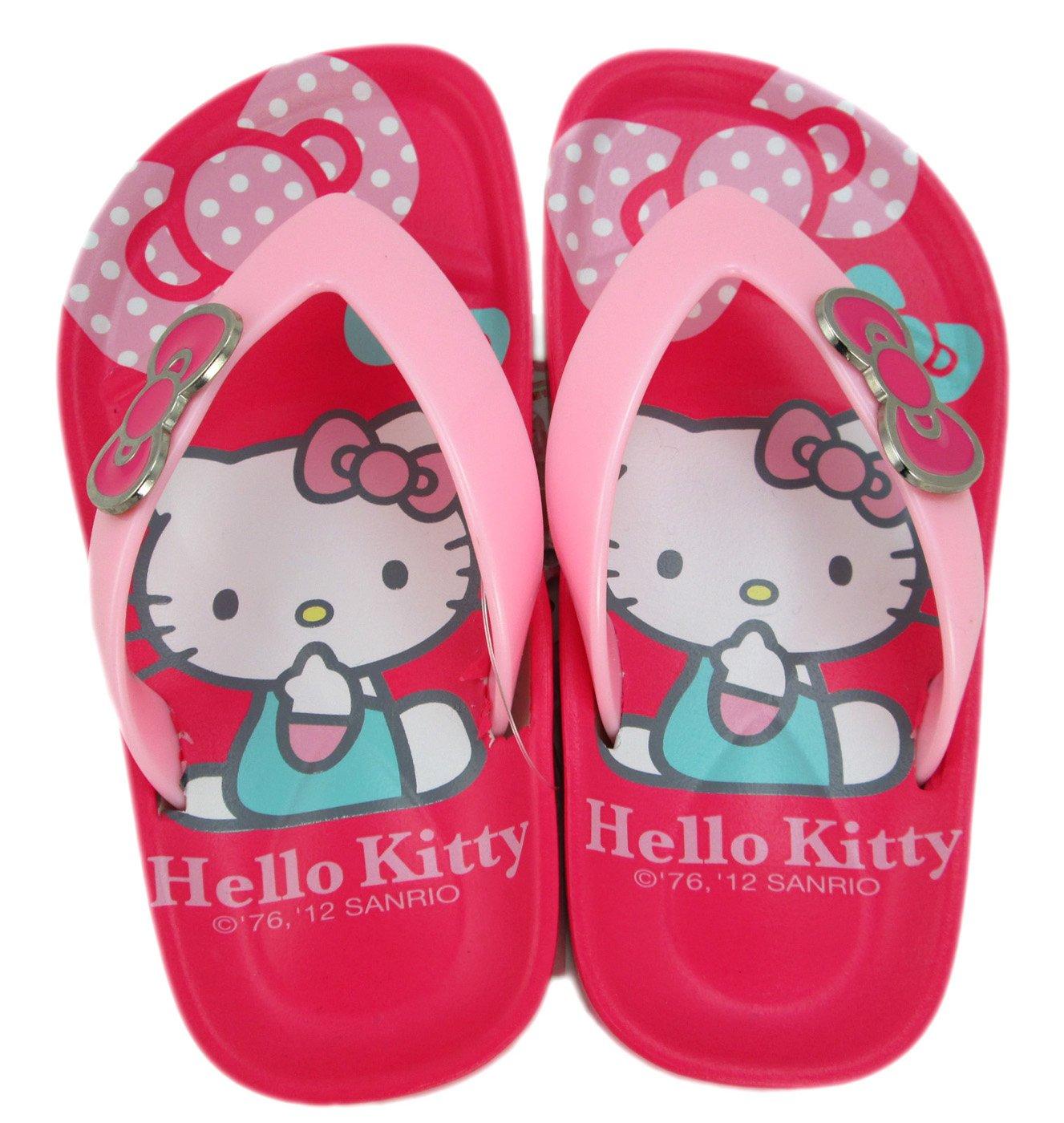 008517d43 Amazon.com  Size 6 Pink Hello Kitty Flip Flops - Hello Kitty Sandals  Beauty