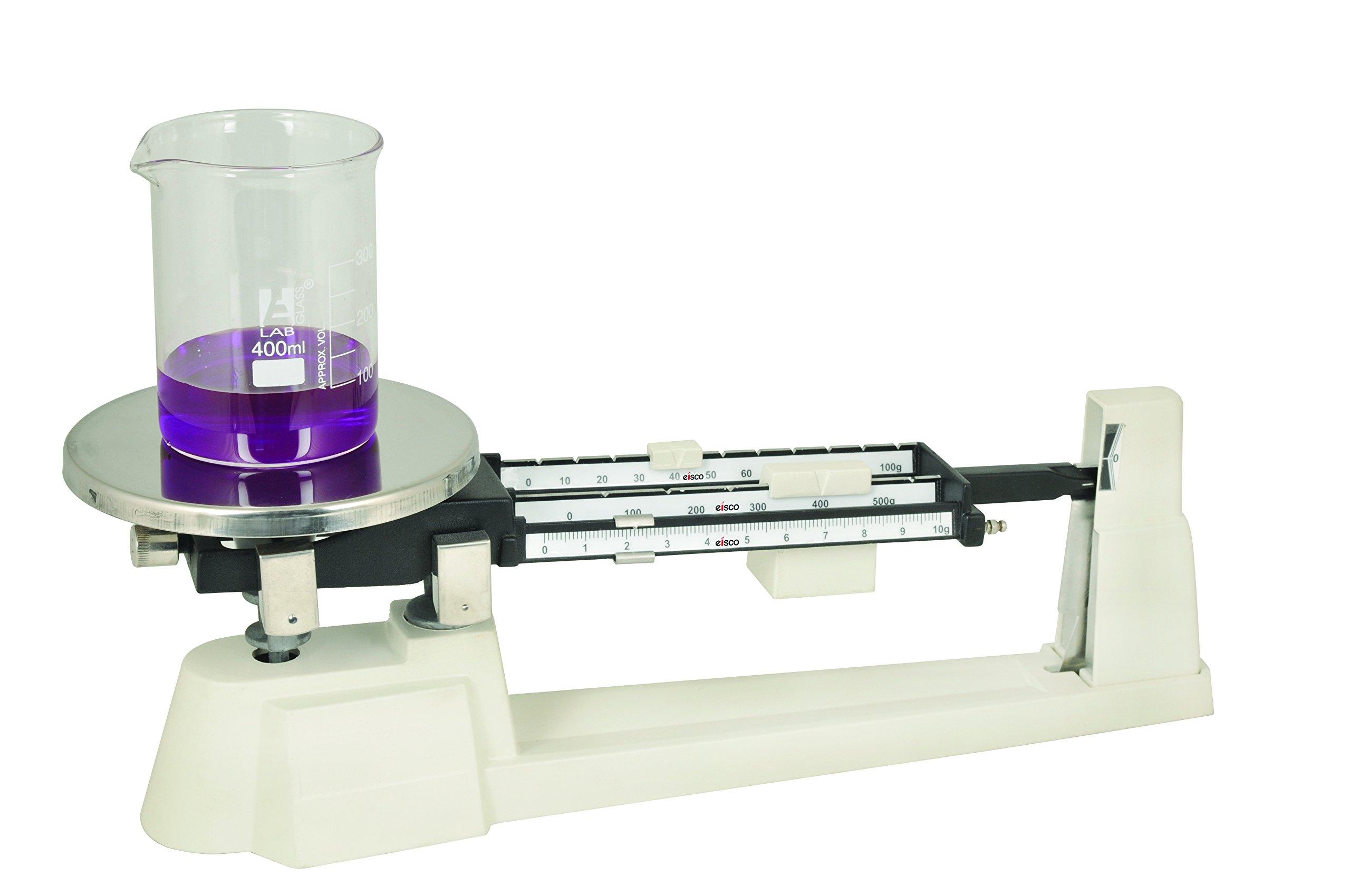 Eisco Labs Triple Beam Balance, 610g Capacity, 0.1g Sensitivity