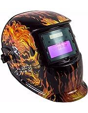 Careta para Soldar Fotosensible Electrónica Auto Oscurecimiento Uso Industrial Diseño Calavera Negro