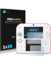 Savvies Pellicola Protettiva Compatibile con Nintendo 2DS Protezione Schermo [6 Pezzi]