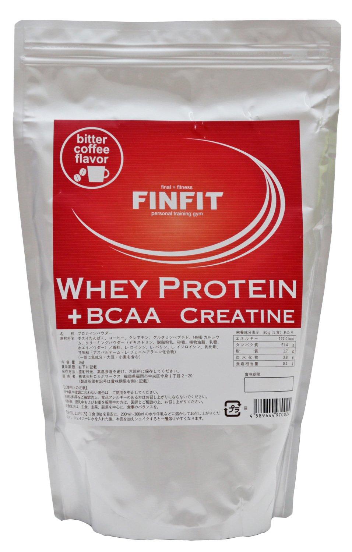 FINFIT ホエイプロテイン ビターコーヒー味 1kg B074YY1H9Z