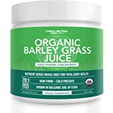 Organic Barley Grass Juice Powder - Grown in Volcanic Soil of Utah - Raw & BioActive Form, Cold-Pressed then CO2 Dried - Comp