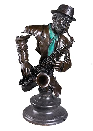 Amazoncom Toperkin Male Busts Music Bust Statue Saxophone Player