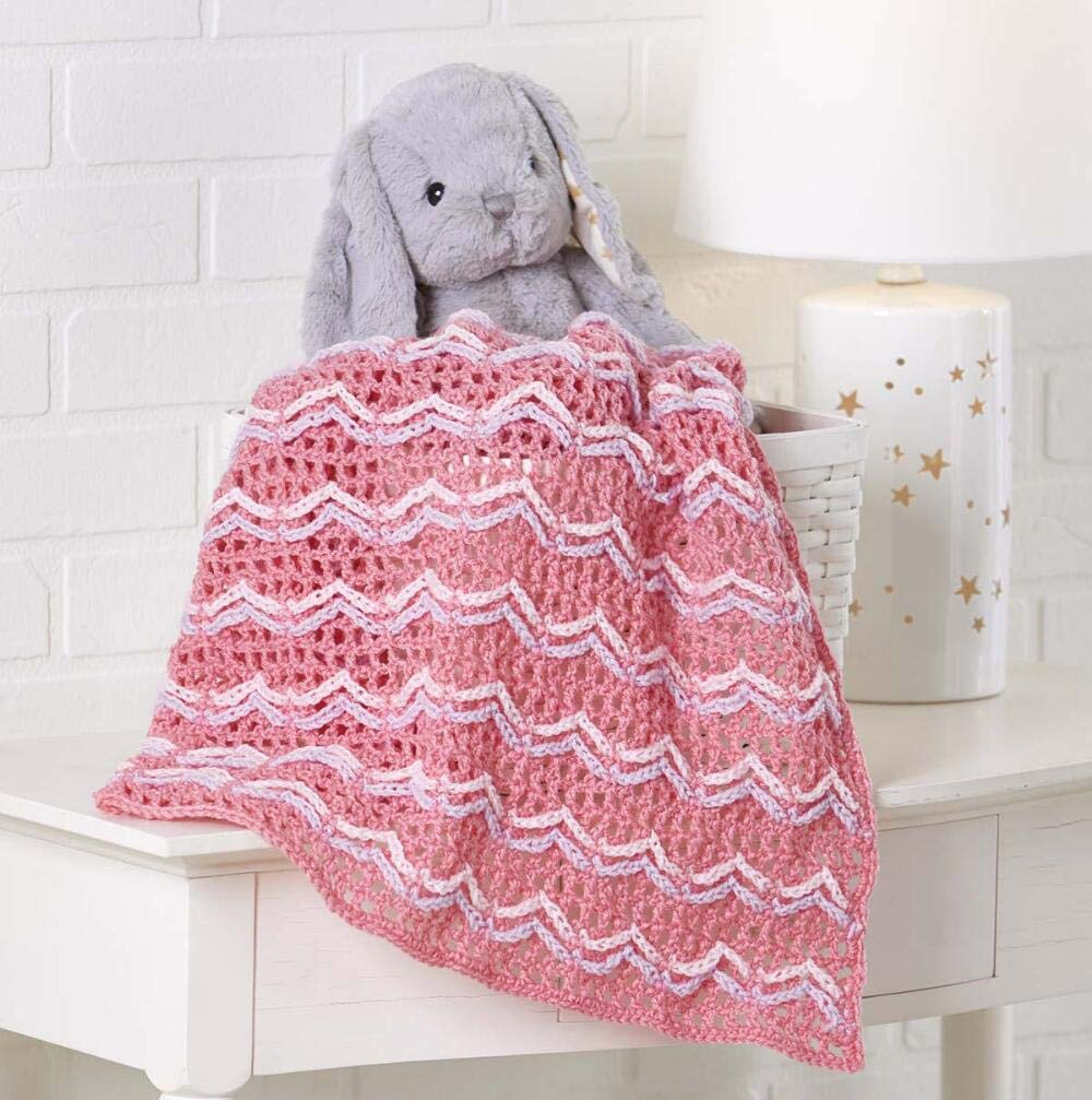 Herrschners® Chained Ripples Baby Blanket Yarn Kit