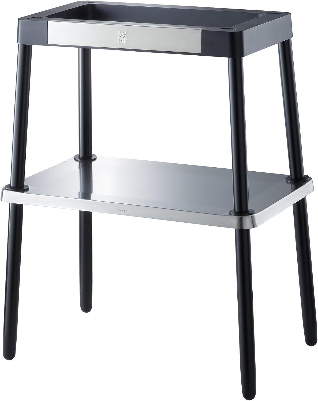 WMF 0415970071 - Soporte LONO Mastergrill, Altura con mastergrill lono 84 cm, con bandeja de apoyo, de acero de cromargan matte