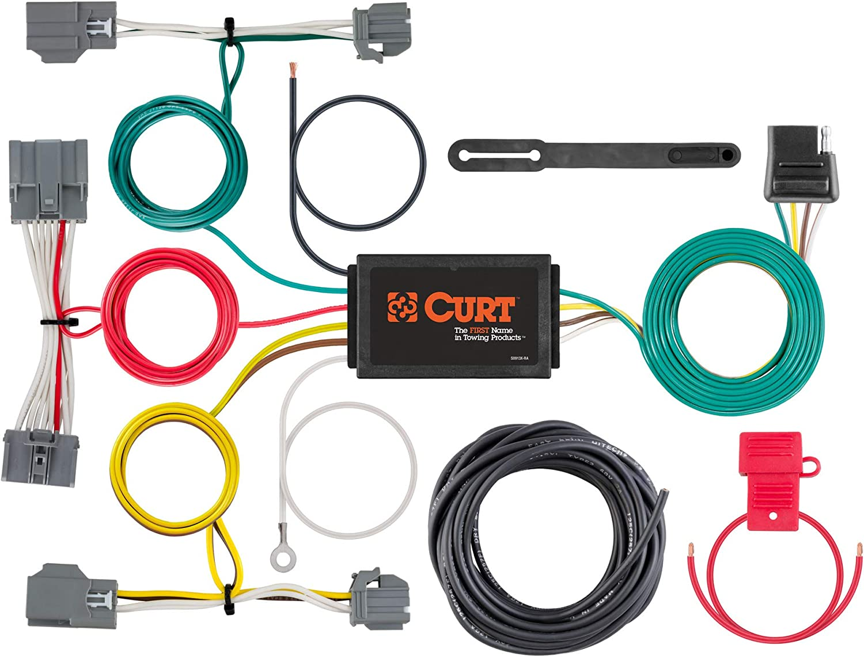 Amazon.com: CURT 56386 Vehicle-Side Custom 4-Pin Trailer Wiring Harness,  Select Volvo XC70: Automotive   Volvo Xc70 Trailer Wiring Harness      Amazon.com