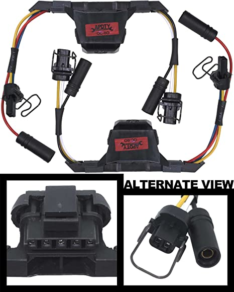 apdty 015312 fuel injector & glow plug inner wire wiring harness set of 2  fits 1995