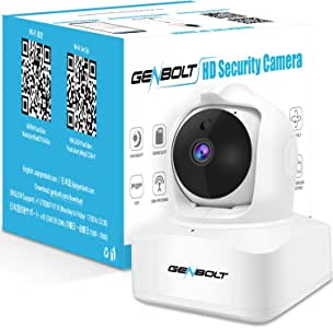 3MP WiFi Security Baby Monitor Camera, GENBOLT Wireless Indoor Dog Camera for Home IP Security Surveillance System with AI Humanoid Alarm(2020)
