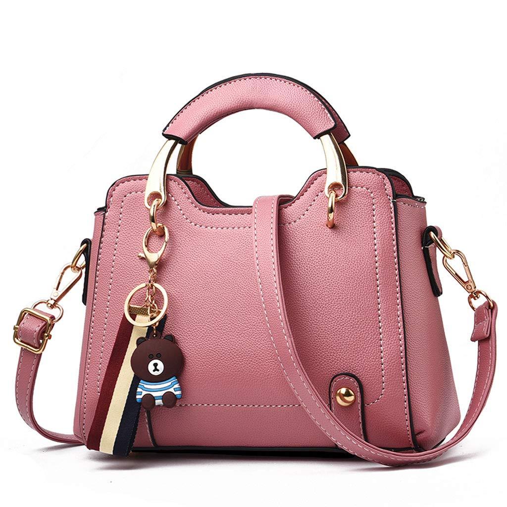 NJ Handtasche- Mode vielseitige Umhängetasche Handtasche Handtasche Handtasche 23x10x16cm (Farbe   Rubber Powder, größe   23x10x16cm) B07K4168PM Schultertaschen Reichhaltiges Design 3b228c
