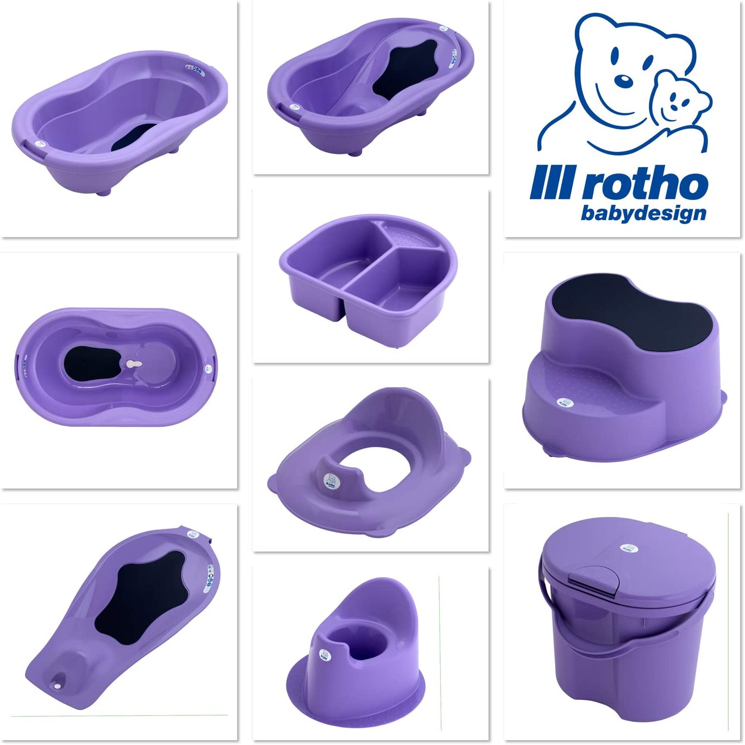 200040235 TOP Curacao Blue From 18 Months Rotho Babydesign TOP Toilet Seat Reducer Green-Blue