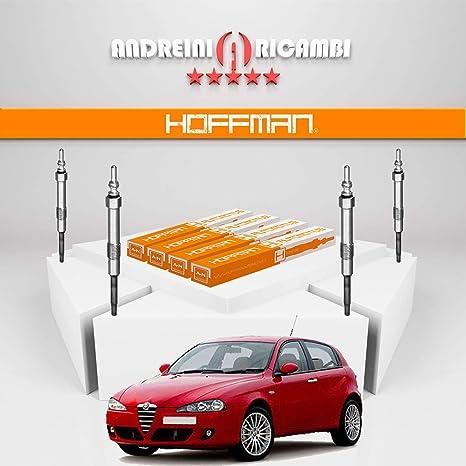Kit 4 candelette Alfa Romeo 147 1.9 JTDM 8 V 88 kW 120 CV a partir