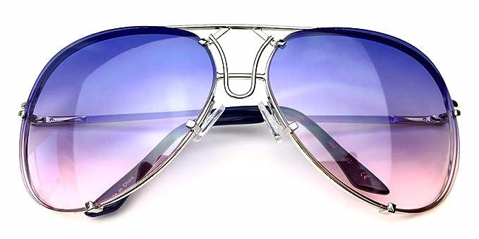 bdd9bf54b6 80 s Vintage Retro Aviator Design Metal Wire Frame Large Lenses Sunglasses  (Gold