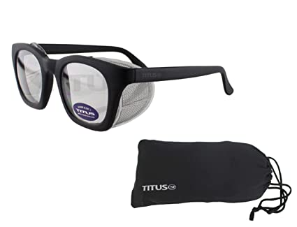 5e799a2ece Image Unavailable. Image not available for. Color  Retro Style Safety  Glasses with Side Shield ...