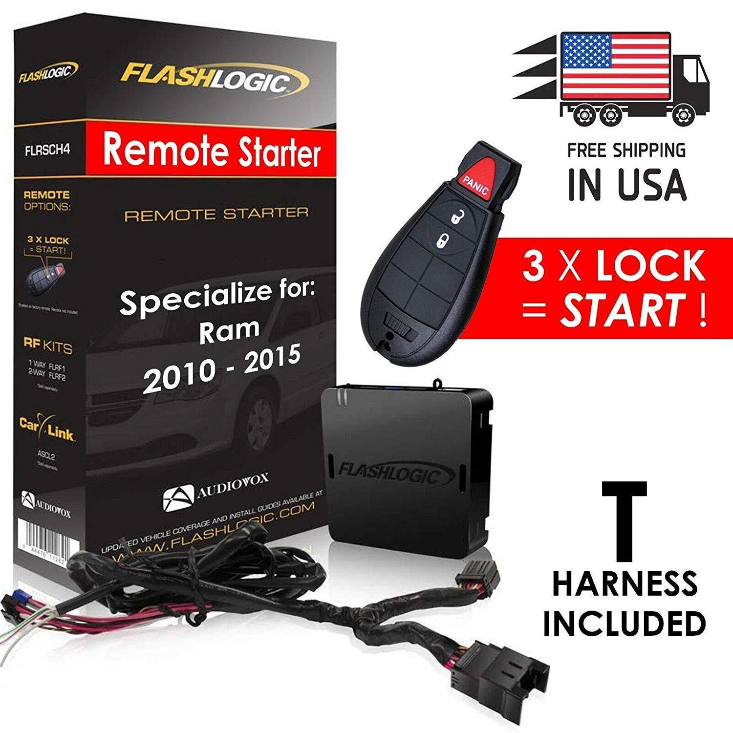 New Flashlogic Plug & Play Remote Start for Ram 2010-2015 - FLRSCH4 / R