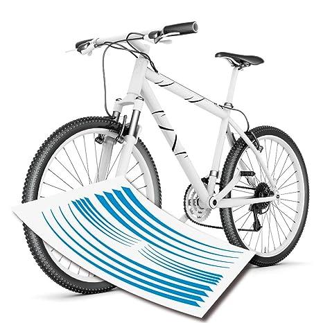 Style4bike Fahrradaufkleber Streifen Dekor Design Set Fahrrad Aufkleber Top Sticker S4b0062