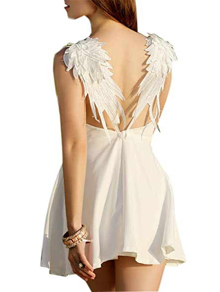 Eloise Isabel Fashion party dress moda apliques de renda runway dress backless deslize little black dress